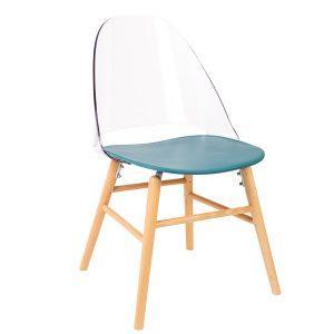 כסא מעוצב מעץ דגם אוליבר