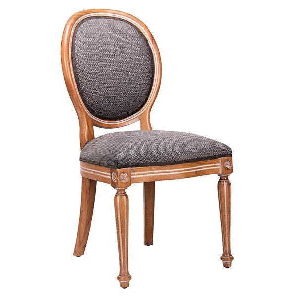 כסא לפינת אוכל מעץ מרופד אלכסנדר