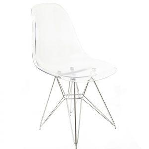 כיסא מפוליקרבונט בצבע שקוף דגם בייסיק-פיסי