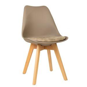 כסא פלסטיק קשיח בייסיק מרופד