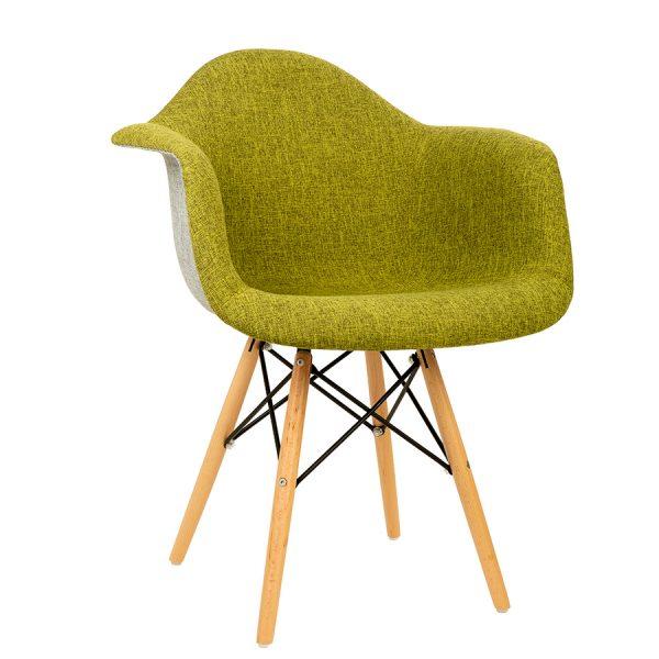 כסא עץ עם ידיות מרופד דגם בייסיק 2