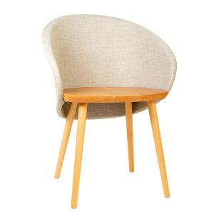 כסא מעוצב מעץ מלא דגם מאנולו