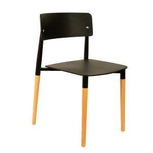 כסא לפינת אוכל מעץ בשילוב פלסטיק דגם פיטר