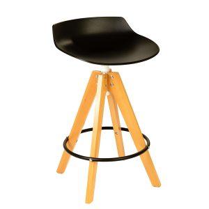 כסא בר עץ מעוצב דגם קיצ'י