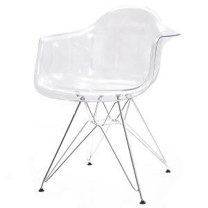 כסא מפלסטיק עם ידיות דגם בייסיק