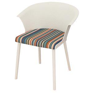 כסא פלסטיק משולב בד דגם פיקאסו