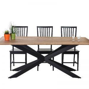 שולחן פינת אוכל מעץ דגם ספיידר