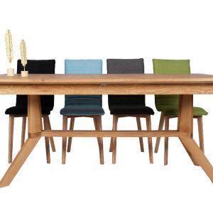 שולחן פינת אוכל מעץ סלים מלבני