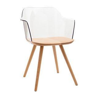 כסא עץ עם ידיות אורטגה