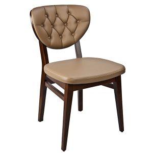 כסא פינת אוכל מעץ מרופד אנדרס