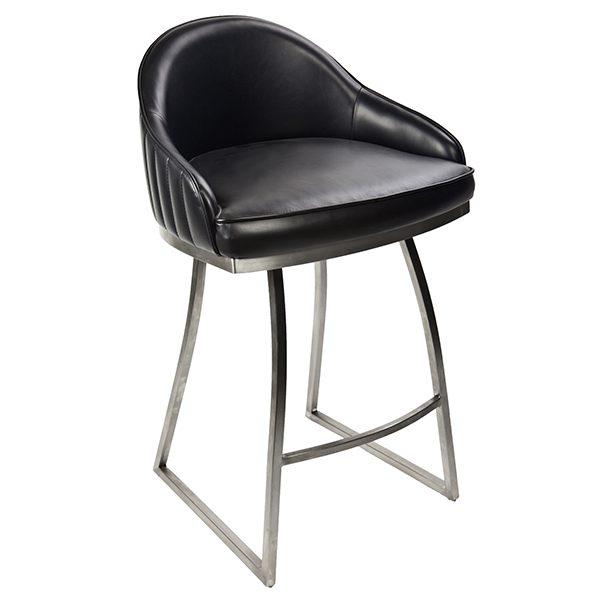 כסא בר מרופד בעיצוב מודרני דגם סלומון בר