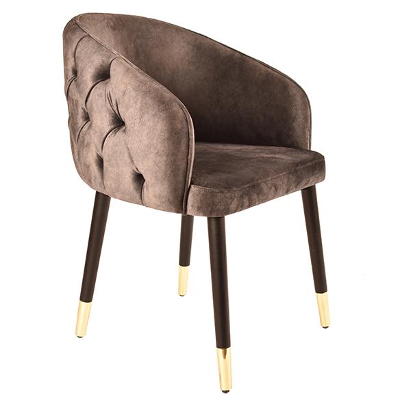 כורסא מעוצבת בריפוד בד דגם שאנל