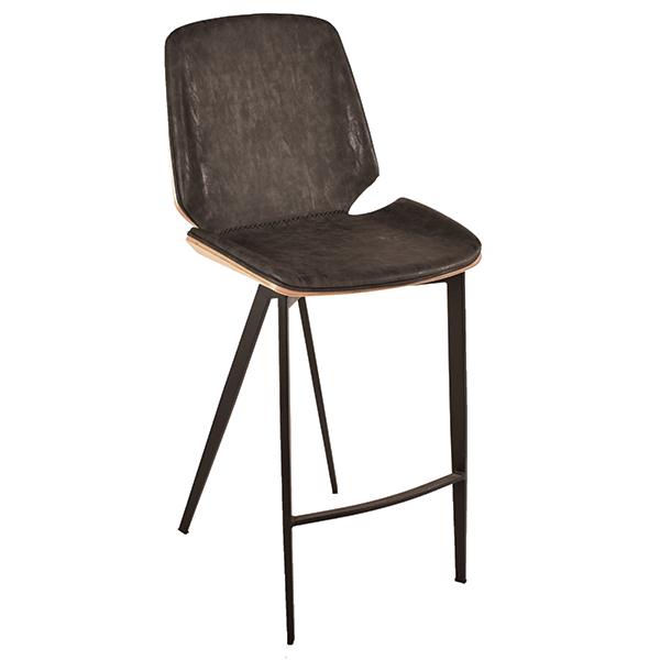 כסא בר מודרני משולב עץ דגם אדוארד
