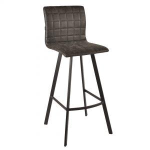 כסא בר מרופד בעיצוב מודרני דגם ג'ו בר