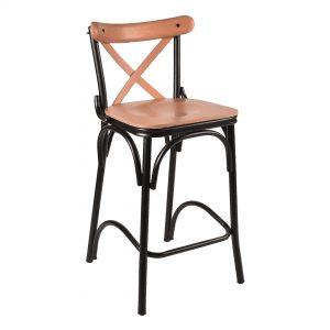 כסא בר מעוצב מעץ אלון טבעי דגם טונט בר