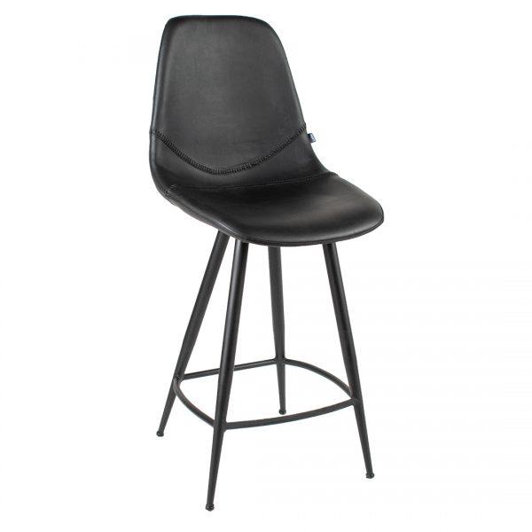 כסא בר מעוצב מדמוי עור דגם באיסבול בר