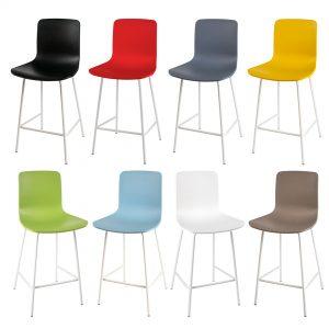 כסא בר מפלסטיק ורגלי מתכת דגם רסט בר