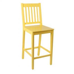 כסא בר מעץ דגם כוורת בר