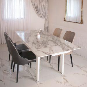 שולחן לפינת אוכל מזכוכית מחוסמת דגם קאפל