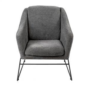 כורסא בעיצוב מודרני עם בד קטיפה דגם לאפייט